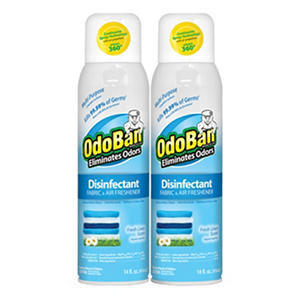Odoban Disinfectant Fabric & Air Freshener Spray, Fresh Linen Scent (14oz.,2pk.)