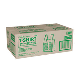 Grocery / Convenience Store Small T-Shirt Bag  (2,000ct.)