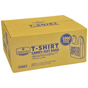 T-Shirt Plastic Carry-Out Bags (1,000 ct.)