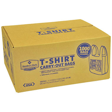 T-Shirt Carry-Out Bags - 1000 ct.