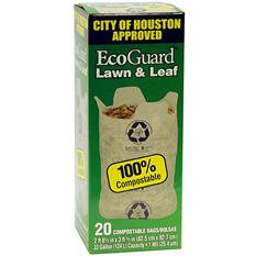 EcoGuard City of Houston Lawn & Leaf Bags - 20 ct.