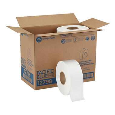Georgia Pacific - Envision, Jumbo Jr. Toilet Paper, 1,000 Ft. Rolls - 8 Rolls