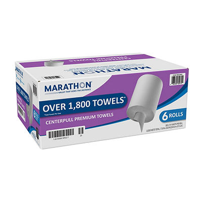 Marathon - Center Pull Paper Towel Rolls, Premium - 1,800 Sheets