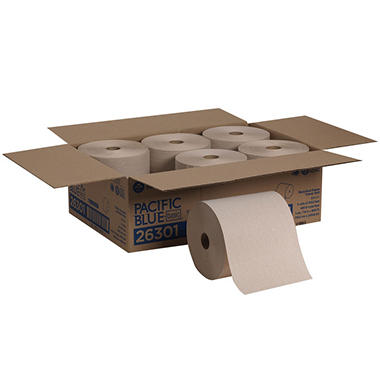 Georgia Pacific -  Envision, Nonperforated Paper Towel Rolls, 800 Ft. Rolls - 6 Rolls