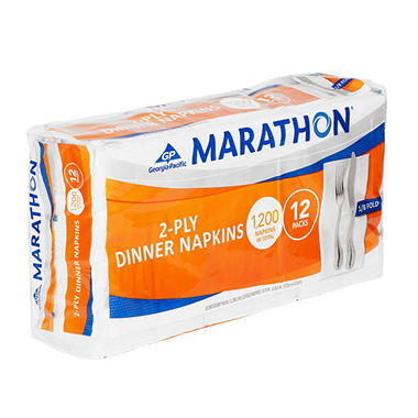 Marathon - Embossed Dinner Napkins, 1/8 Fold - 1,200 Napkins