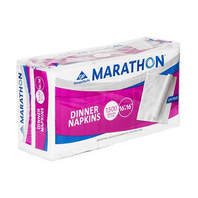 Marathon - Embossed Dinner Napkins, 1/4 Fold - 1,500 Napkins