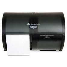 Georgia Pacific Compact Tissue Dispenser - Side-by-Side Double Roll - 6,000 Sheet Capacity