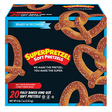 SuperPretzel Soft Pretzels, King Size  (20 ct.)