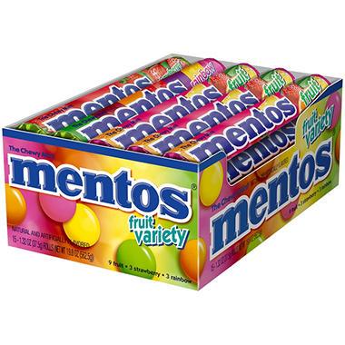 Mentos® Fruit Variety - 1.32oz rolls - 15 ct.