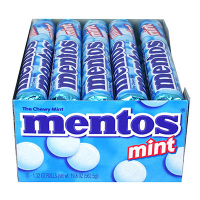 Mentos Mint  - 1.32 oz. rolls - 15 ct.