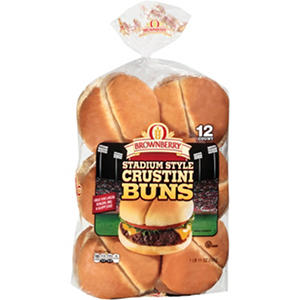 Brownberry Stadium Style Crustini Buns (27 oz. bun, 12 ct.)