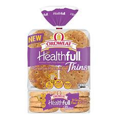 Oroweat Healthful 9 Grain Sandwich Thins (16 ct.)