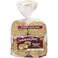 Oroweat Sandwich Thins, 100% Whole Wheat (16 ct.)
