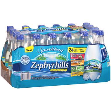 Zephyrhills Sparkling Water - Variety - 24 / .5 L