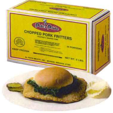 Pete's Pride Chopped Pork Fritters - 5 lbs.