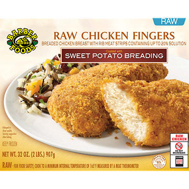 Barber Foods Raw Chicken Fingers with Sweet Potato Breading - 32 oz.
