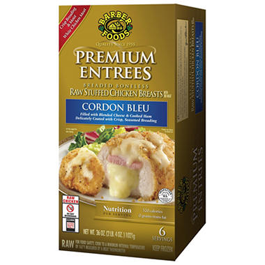 Premium Entrees Stuffed Chicken Cordon Bleu