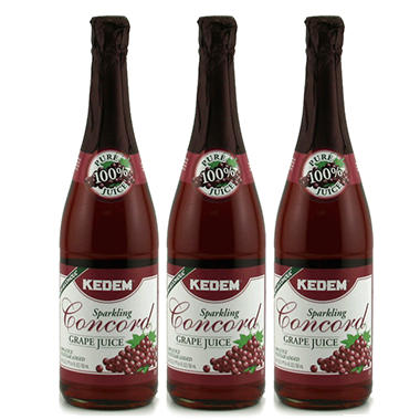 Kedem Sparkling Concord Grape Juice - 25.4 oz. - 3 ct.