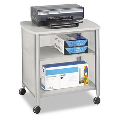 "Safco - Impromptu Machine Stand, 1-Shelf, 26-1/4""W x 21""D x 26-1/2""H - Gray"