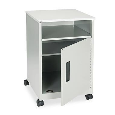 Safco - Steel Machine Stand w/Compartment, 1-Shelf, 17-1/4