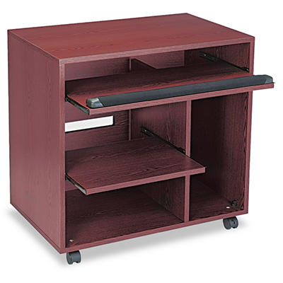 Safco - Ready-to-Use PC Workstation - Mahogany Laminate Top