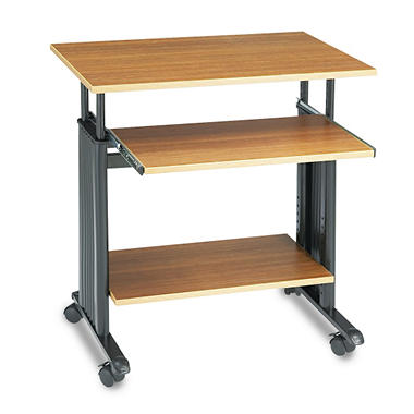 "Safco - 28"" Wide Adjustable Height Workstation - Oak"