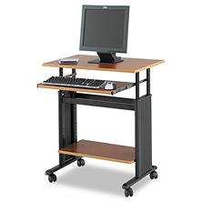 "Safco 28"" Wide Adjustable Height Workstation, Cherry"