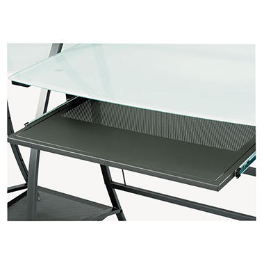 Safco Xpressions Keyboard Tray - Steel - Black