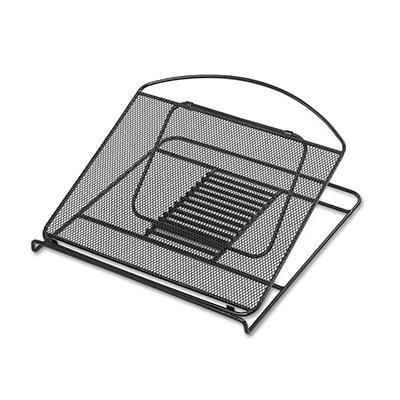 Safco - Onyx Adjustable Steel Mesh Laptop Stand, 12 1/4 x 12 1/4 x 1 -  Black