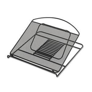 Safco Onyx Adjustable Steel Mesh Laptop Stand, Black