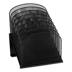 Safco 8-Tier Section Mesh Desk Organizer, Black