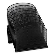 Safco 8-Tier Section Mesh Desk Organizer, Black