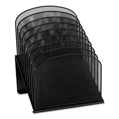 "Safco - Mesh Desk Organizer, Eight Sections, Steel, 11 1/4"" x 10 7/8"" x 13 3/4"" - Black"