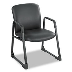 Safco Uber Series Big & Tall Sled Base Guest Chair, Black
