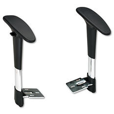 Safco - Adjustable T-Pad Arms for Metro Series Extended-Height Chairs - Black/Chrome