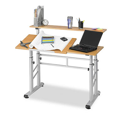 Safco Height Adjustable Split Level Workstation