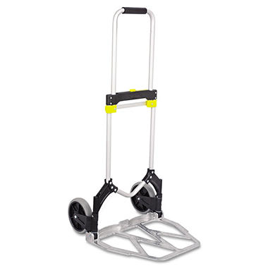 Safco Stow-Away Hand Truck, Aluminum