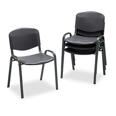 Safco Contour Stacking Chairs, Select Color - 4 Pack