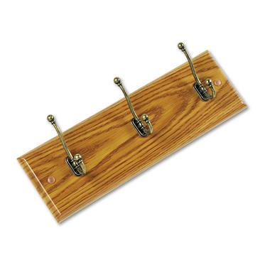 Safco Wall 3-Hook Wood Garment Rack