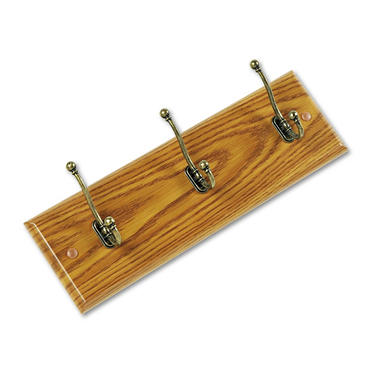 Safco Wall 3-Hook Wood Garment Rack