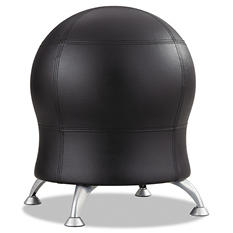 Safco Zenergy Ball Chair, Black/Silver