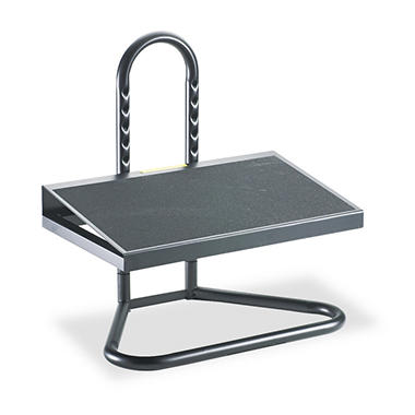 Safco Ergonomic Adjustable Height Footrest, Black