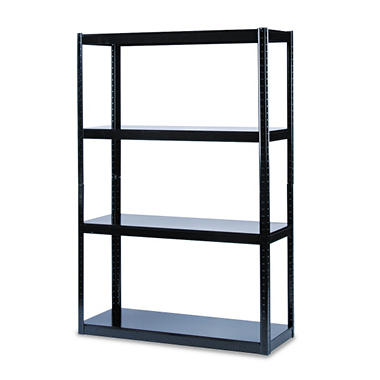 Safco - Boltless Steel Shelving, 5 Shelves, 48w x 18d x 72h - Black