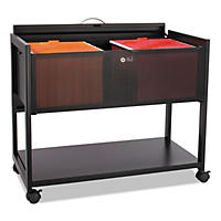 Safco One-Shelf Locking Top Mobile Tub File, Black