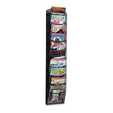 Safco 10-Pocket Mesh Magazine Rack, Black