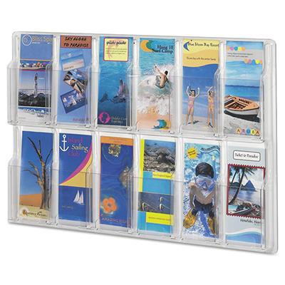 Safco 12 Pocket Pamphlet Display Rack