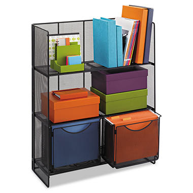 Safco - Onyx Fold-Up Shelving Unit - Legal - Black