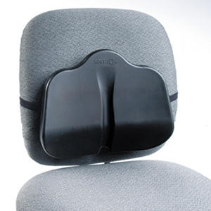 Safco SoftSpot Low Profile Back Rest Cushion, Black