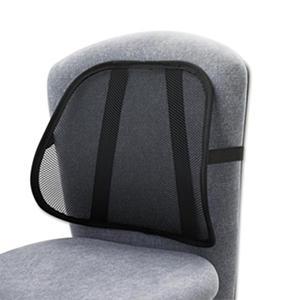 Safco Adjustable Mesh Backrest, Black