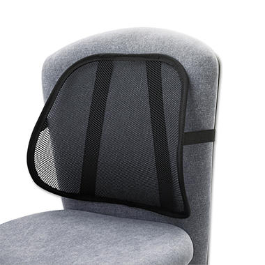 Safco Adjustable Mesh Backrest, Black